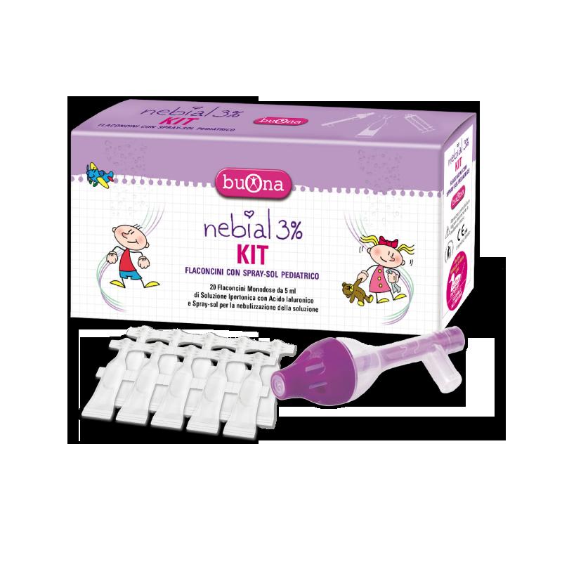 Bộ sản phẩm rửa mũi trẻ sơ sinh Nebial KIT