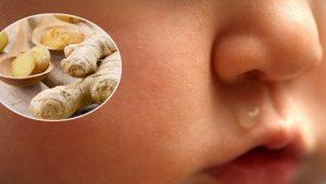 cách chữa sổ mũi cho bé bằng dân gian