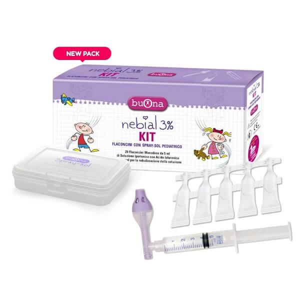 Thiết bị rửa mũi chuyên dụng cho trẻ Nebial 3% Kit