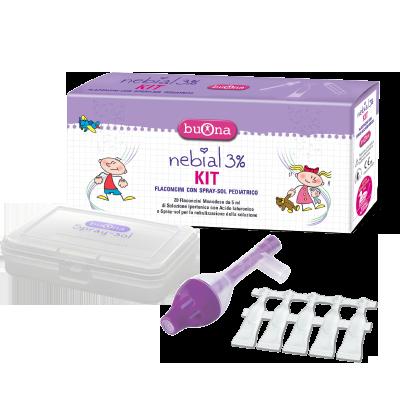 Bộ xịt rửa mũi Nebial 3% KIT