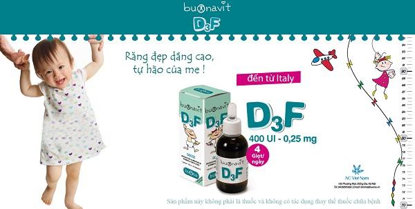Chăm sóc răng miệng cho bé với Buonavit D3F