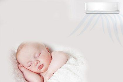 trẻ bị khô mũi khi nằm điều hòa