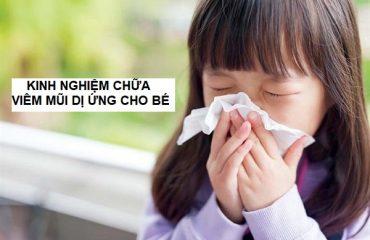 kinh nghiệm chữa viêm mũi dị ứng cho bé