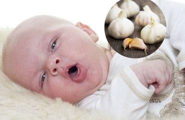 trị cảm cúm cho trẻ sơ sinh bằng tỏi